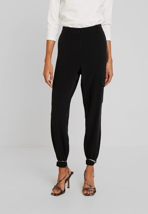 KAEDA  - Pantalones cargo - black deep