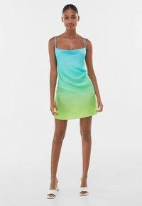 Bershka - Robe d'été - turquoise - 1