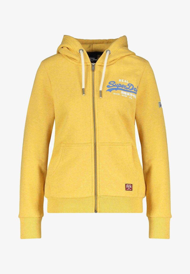Superdry - Zip-up sweatshirt - gelb