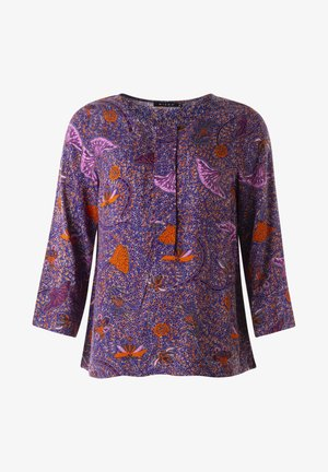 Blus - lilic /orange print