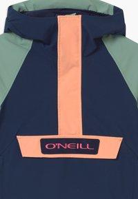 O'Neill - ANORAK - Snowboardová bunda - blue/mint/apricot - 3
