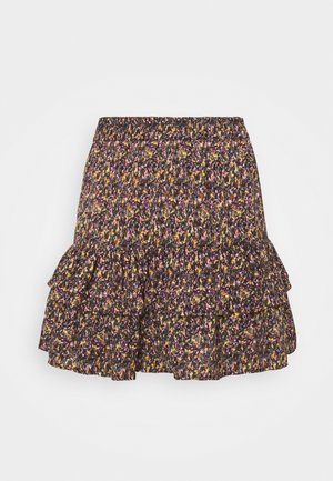 JDYMIA SKIRT - Mini skirt - bitter chocolate