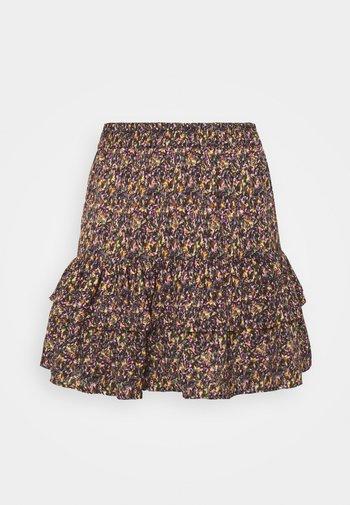 JDYMIA SKIRT - Mini skirt - bitter chocolate