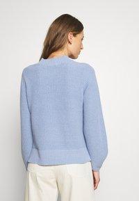 Selected Femme - SLFLESLIE O-NECK - Trui - brunnera blue - 2