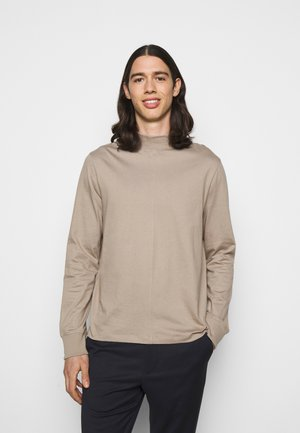 M. MARLON MOCK-NECK LONGSLEEVE - Long sleeved top - desert taupe