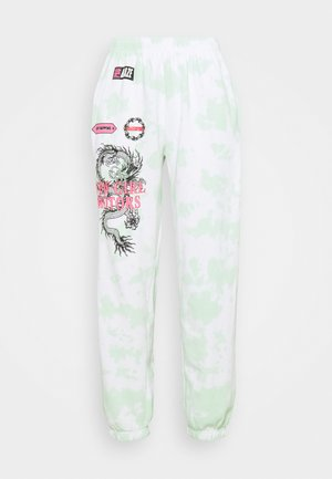 MOTOCROSS DRAGON TIE DYE JOGGER - Tracksuit bottoms - mint