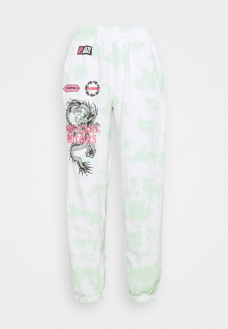 NEW girl ORDER - MOTOCROSS DRAGON TIE DYE JOGGER - Tracksuit bottoms - mint