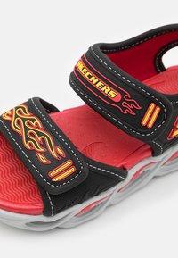 Skechers - THERMO-SPLASH - Sandals - black/red/yellow - 5