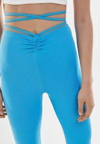 Bershka - Trousers - blue - 3