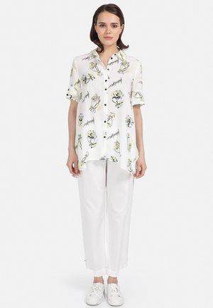 MIT PRINT - Button-down blouse - weiss
