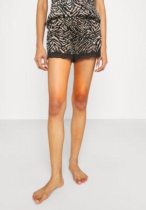 SHORT SCALLOP ZEBRA - Pantaloni del pigiama - black