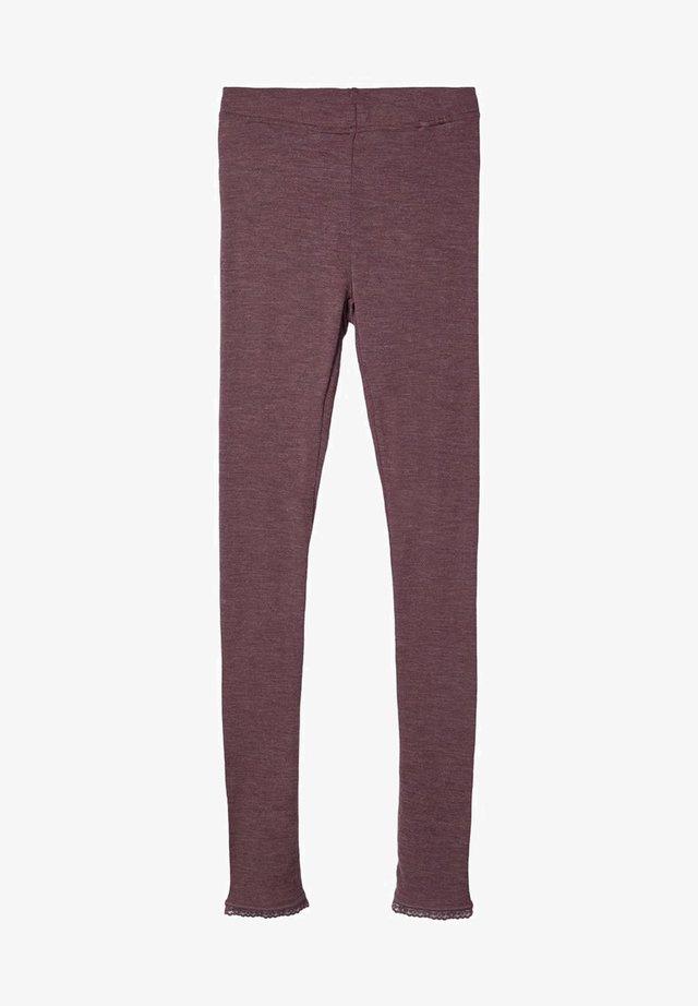 MERINOWOLL - Leggings - Trousers - flint