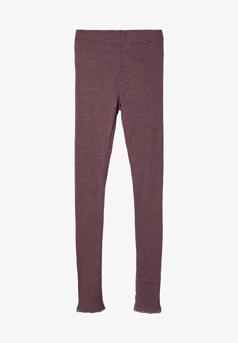 Name it - MERINOWOLL - Leggings - Trousers - flint