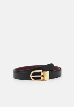REGULAR SAFF MINI DOLLARO TONGUE BELT - Cintura - nero/vinaccia