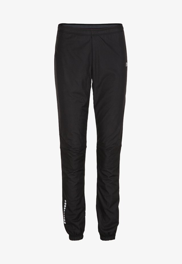 BASE CROSS - Tracksuit bottoms - black