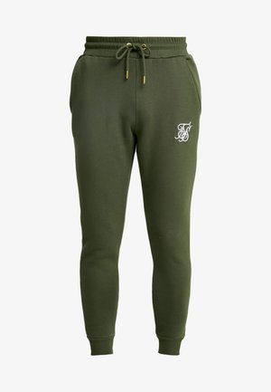MUSCLE FIT - Tracksuit bottoms - khaki/white