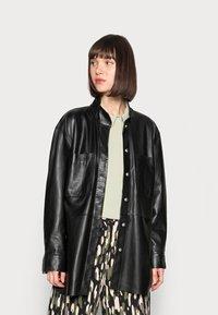 DAY Birger et Mikkelsen - DAY SKIN - Leather jacket - jet black - 0