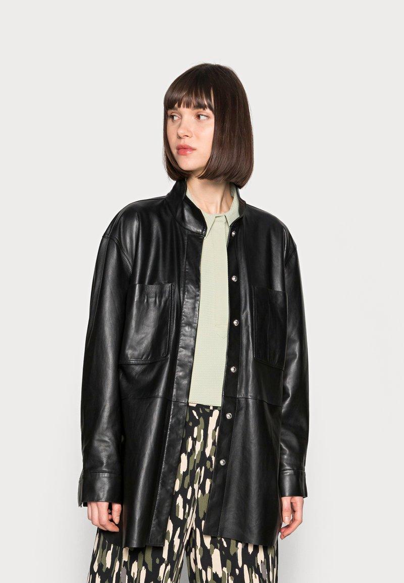 DAY Birger et Mikkelsen - DAY SKIN - Leather jacket - jet black