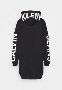 Calvin Klein Jeans - INSTITUTIONAL LOGO HOODIE DRESS - Kjole - black - 1