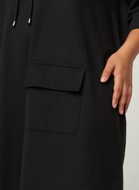 Zizzi - WITH 3/4 LENGTH SLEEVES AND A HOOD - Day dress - black - 3