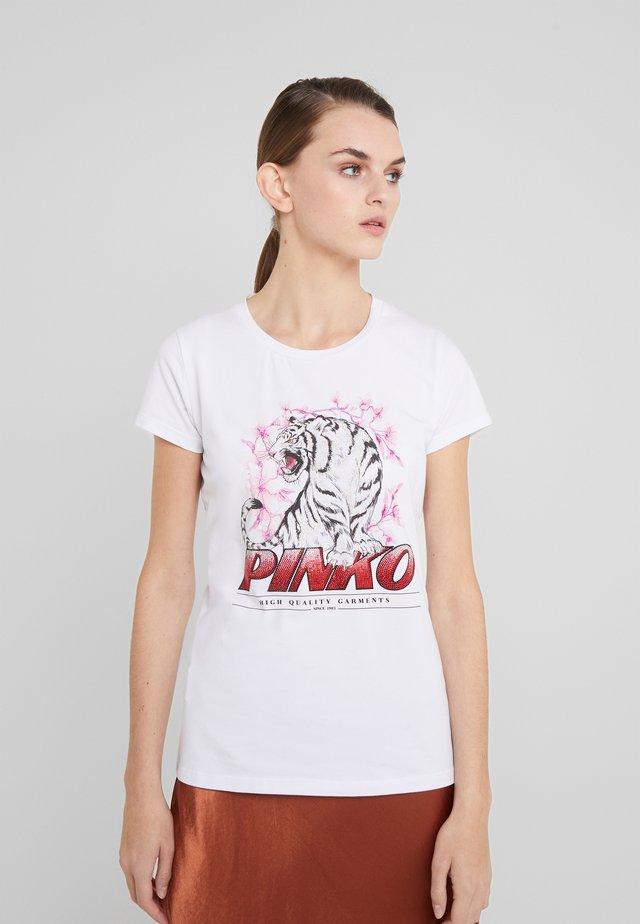 PIMPI - T-shirt imprimé - white