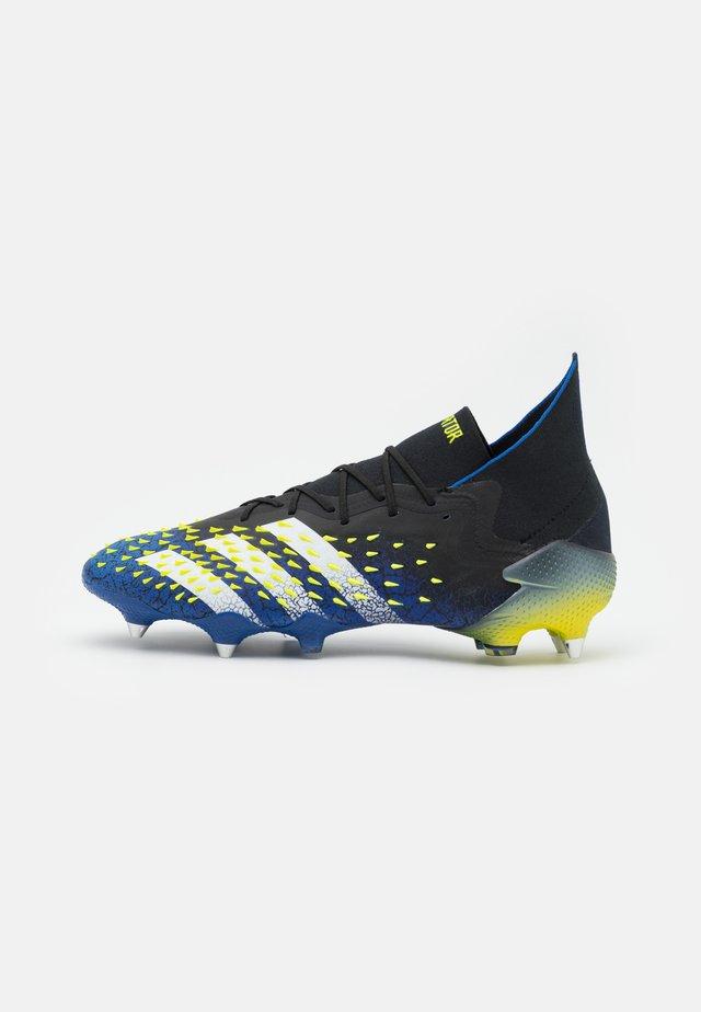 PREDATOR FREAK .1 SG - Voetbalschoenen met metalen noppen - core black/footwear white/solar yellow