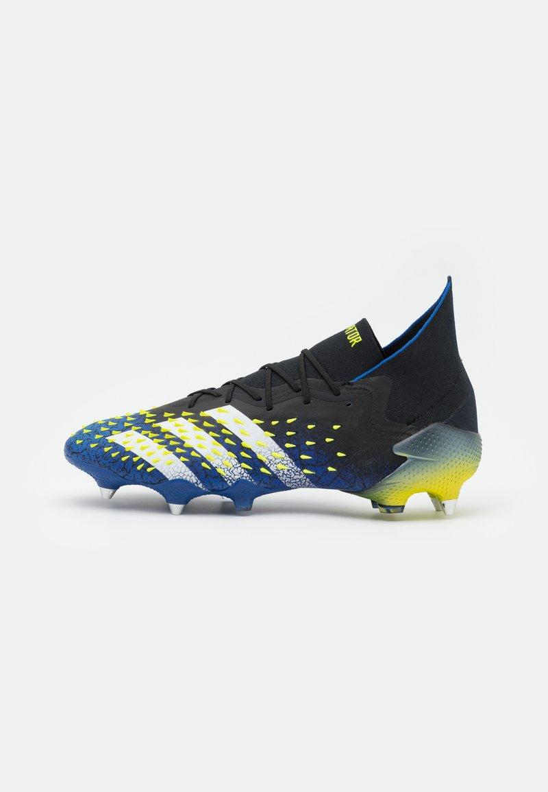 adidas Performance - PREDATOR FREAK .1 SG - Screw-in stud football boots - core black/footwear white/solar yellow