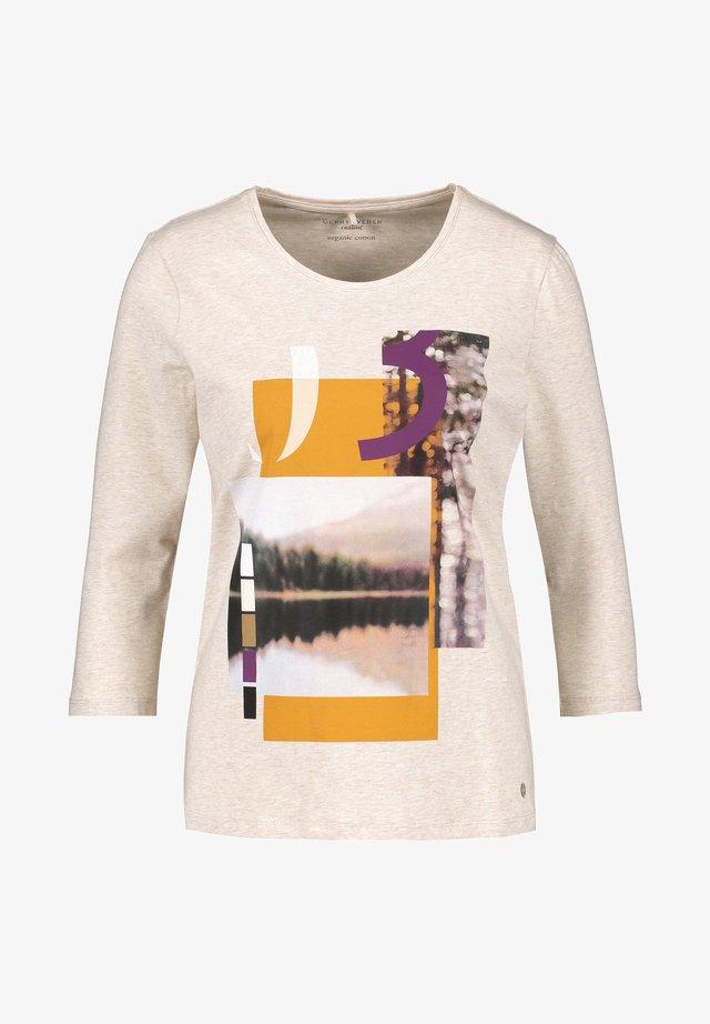 3/4 ARM  - T-shirt à manches longues - taupe melange