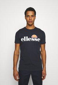 Ellesse - SMALL LOGO PRADO - Print T-shirt - navy - 0