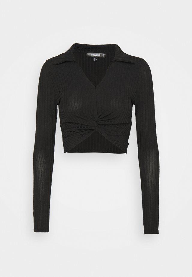 COLLAR NECK - Blouse - black
