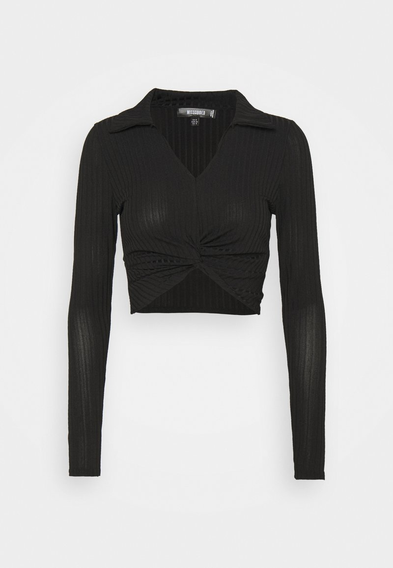 Missguided - COLLAR NECK - Blouse - black