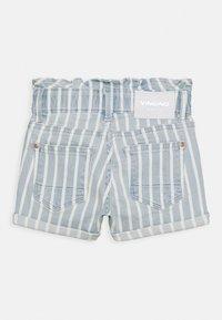 Vingino - DALMINE - Denim shorts - blue/white - 1