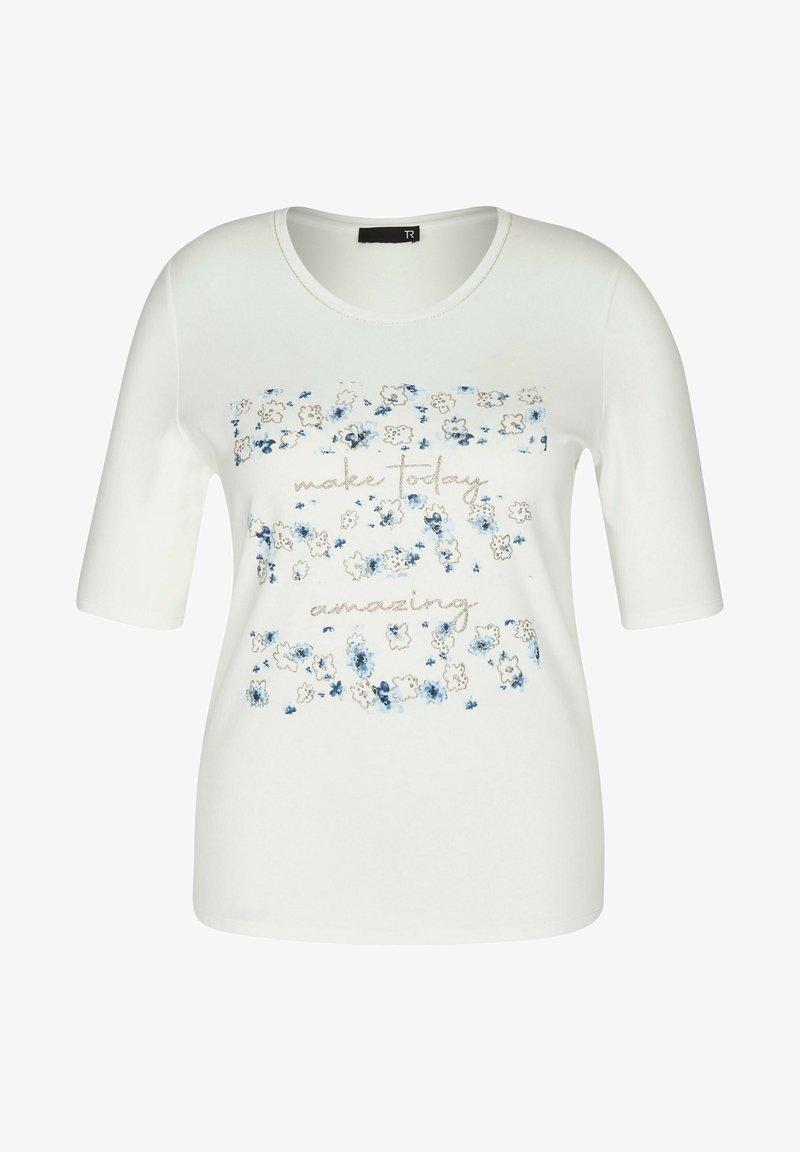 TR - MIT UNIFARBENEM UND GLITZERDETAILS - Print T-shirt - weiãŸ