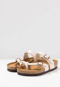 Birkenstock - MAYARI - T-bar sandals - graceful pearl/white - 4