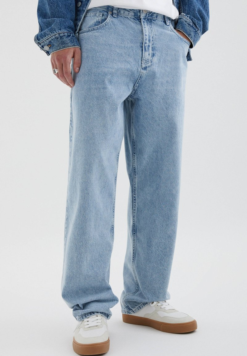 PULL&BEAR - Straight leg jeans - blue denim