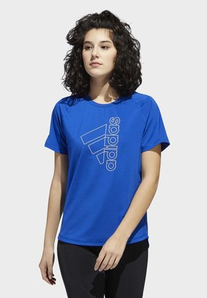 BADGE OF SPORT T-SHIRT - T-shirts med print - blue