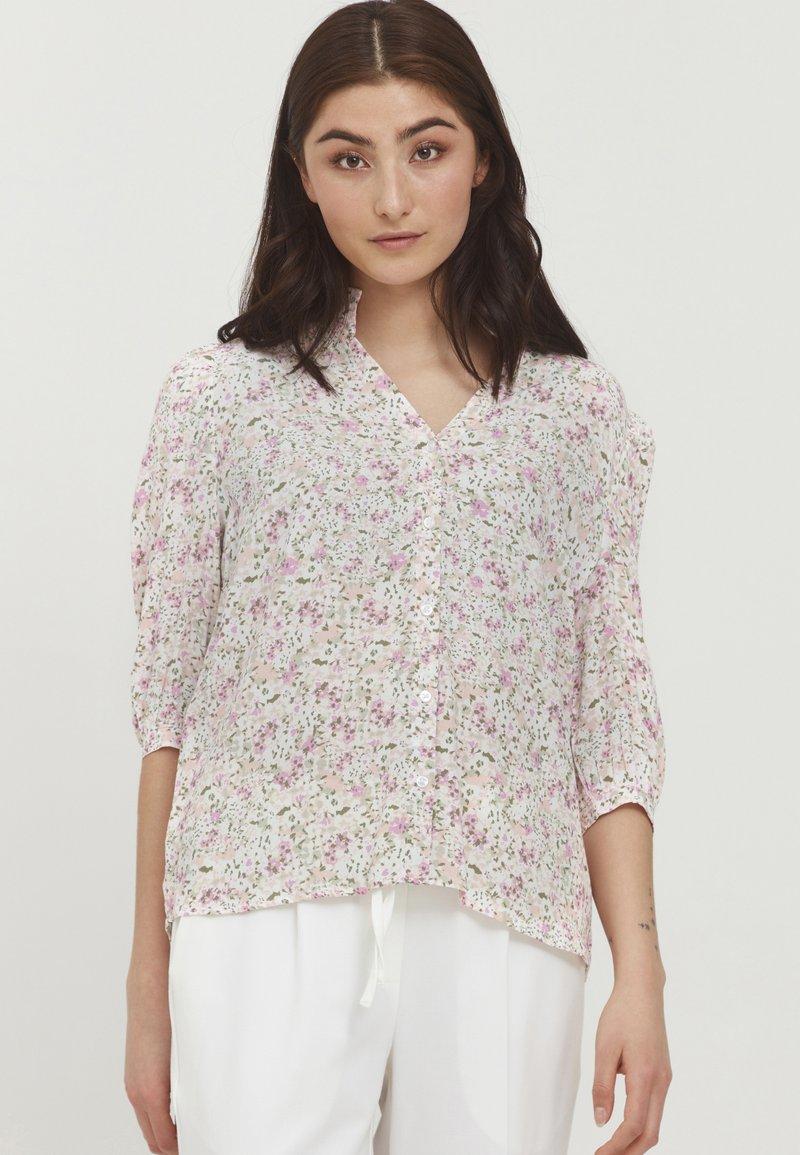 b.young - BYFLAMINIA - Button-down blouse - fuchsia pink mix