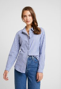 Springfield - CAMISA SLIM FIT - Button-down blouse - blues - 0