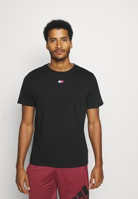 Tommy Hilfiger - LOGO TEE - Sports shirt - black - 0