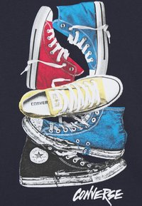 Converse - STACKED REMIX TEE - Print T-shirt - obsidian - 2