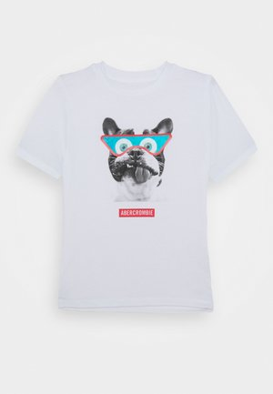 INTERACTIVE - Print T-shirt - white