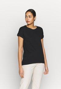 JDY - JDYPASTEL LIFE 2 PACK - Print T-shirt - black/martini olive - 2