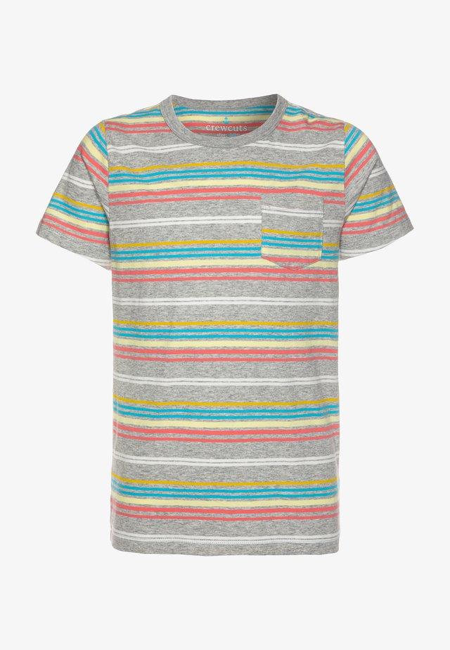 RAINBOW STRIPE - T-Shirt print - grey/multicolor