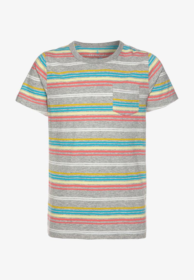 J.CREW - RAINBOW STRIPE - Print T-shirt - grey/multicolor