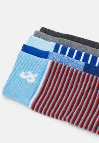 Jack & Jones - JACTWISTED STRIP SOCK 5 PACK - Socks - light grey melange/dark grey melange - 1