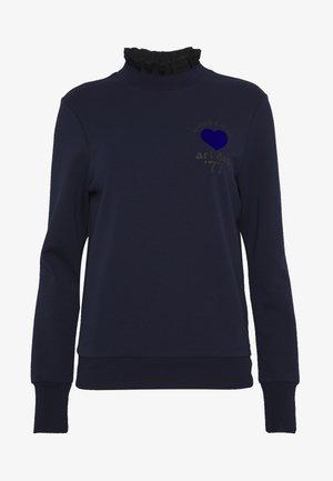 ARTWORKS AND SPECIAL COLLAR - Sweatshirt - navy