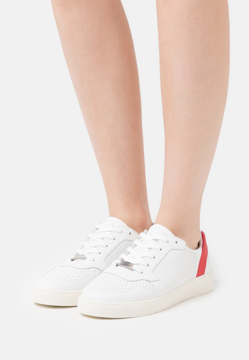Scotch & Soda - LAURITE - Trainers - white/red