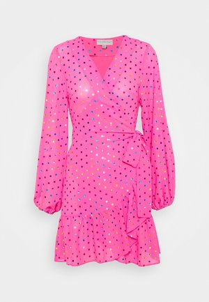 RAINBOW SPOT MINI DRESS - Day dress - pink