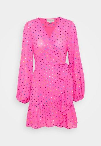 RAINBOW SPOT MINI DRESS - Day dress - pink