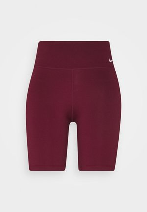 ONE SHORT - Legging - dark beetroot/white